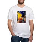Cafe & Schipperke Fitted T-Shirt