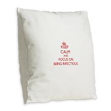 Cute Defile Burlap Throw Pillow