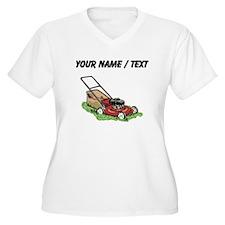Custom Lawnmower Plus Size T-Shirt