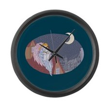 Bedtime Story Large Wall Clock