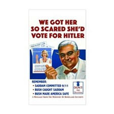 Voting For Hitler Rectangle Decal