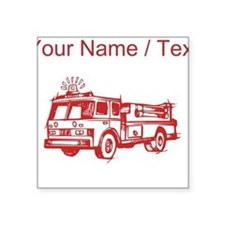 Custom Red Fire Truck Sticker