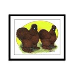 Red Silkies Framed Panel Print