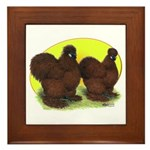Red Silkies Framed Tile