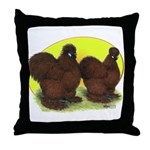 Red Silkies Throw Pillow