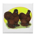 Red Silkies Tile Coaster