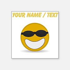 Custom Cool Smiley Face Sticker