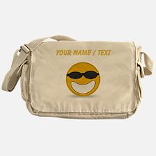 Custom Cool Smiley Face Messenger Bag