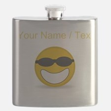 Custom Cool Smiley Face Flask