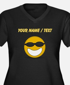 Custom Cool Smiley Face Plus Size T-Shirt