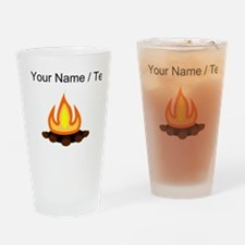 Custom Camp Fire Drinking Glass