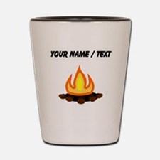 Custom Camp Fire Shot Glass