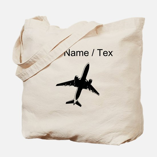 Custom Airplane Tote Bag