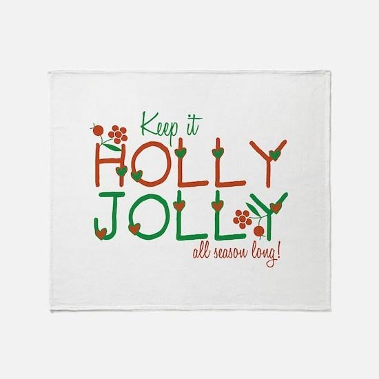 Keep It Jolly Throw Blanket