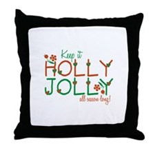Keep It Jolly Throw Pillow