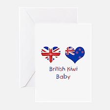 British Kiwi Baby Greeting Cards (Pk of 10)