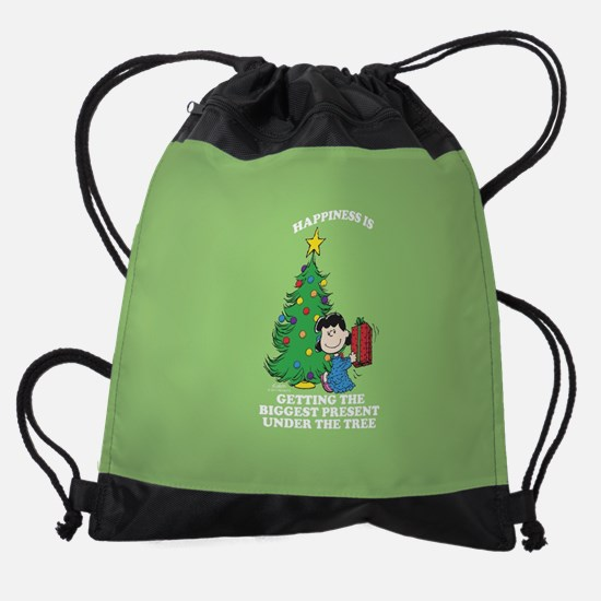 Peanuts Biggest Present Under The T Drawstring Bag