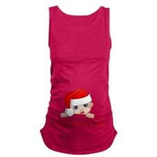 Santa Baby Maternity Zipper Maternity Tank Top