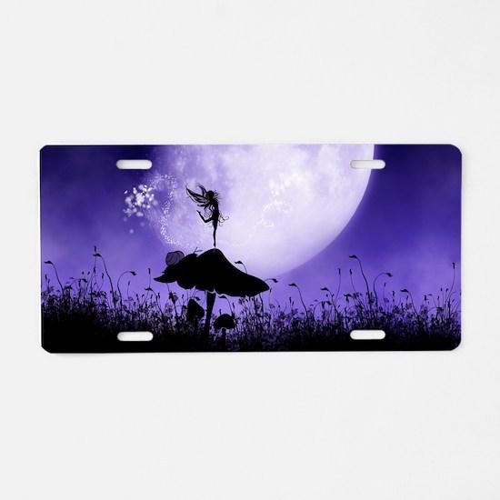 Fairy Silhouette 2 Aluminum License Plate