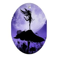 Fairy Silhouette 2 Ornament (Oval)