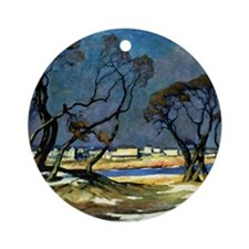 York Beach, fine art Round Ornament