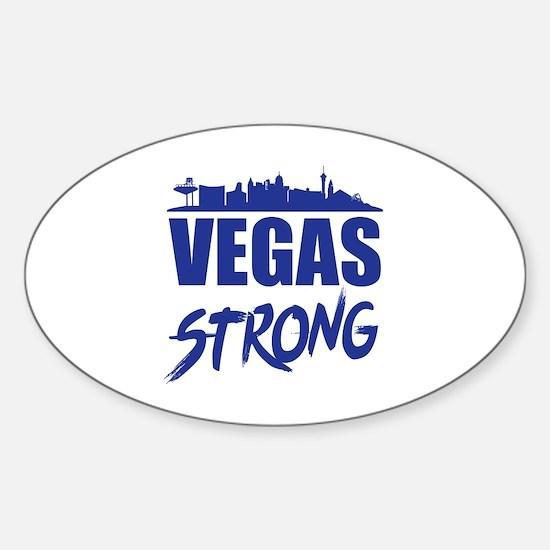 Vegas strip Sticker (Oval)