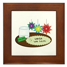 Santa Was Here Framed Tile