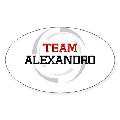 Alexandro Oval Sticker
