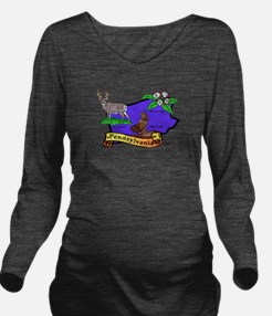 Pennsylvania.png Long Sleeve Maternity T-Shirt