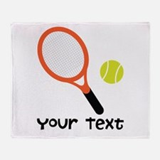 Personalized Tennis Throw Blanket