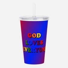 God loves everyone (rainbow) II Acrylic Double-wal