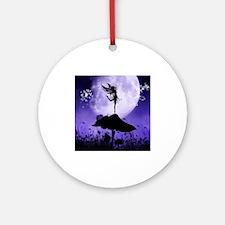 Fairy Silhouette 2 Ornament (Round)