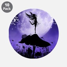 "Fairy Silhouette 2 3.5"" Button (10 pack)"