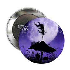 "Fairy Silhouette 2 2.25"" Button (10 pack)"