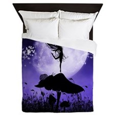 Fairy Silhouette 2 Queen Duvet