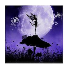 Fairy Silhouette 2 Tile Coaster