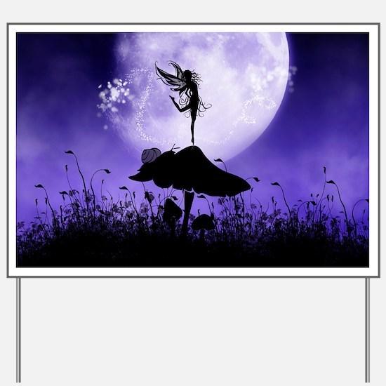 Fairy Silhouette 2 Yard Sign