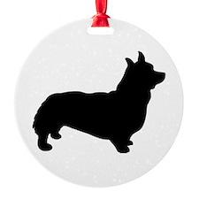 corgi black 3 Ornament