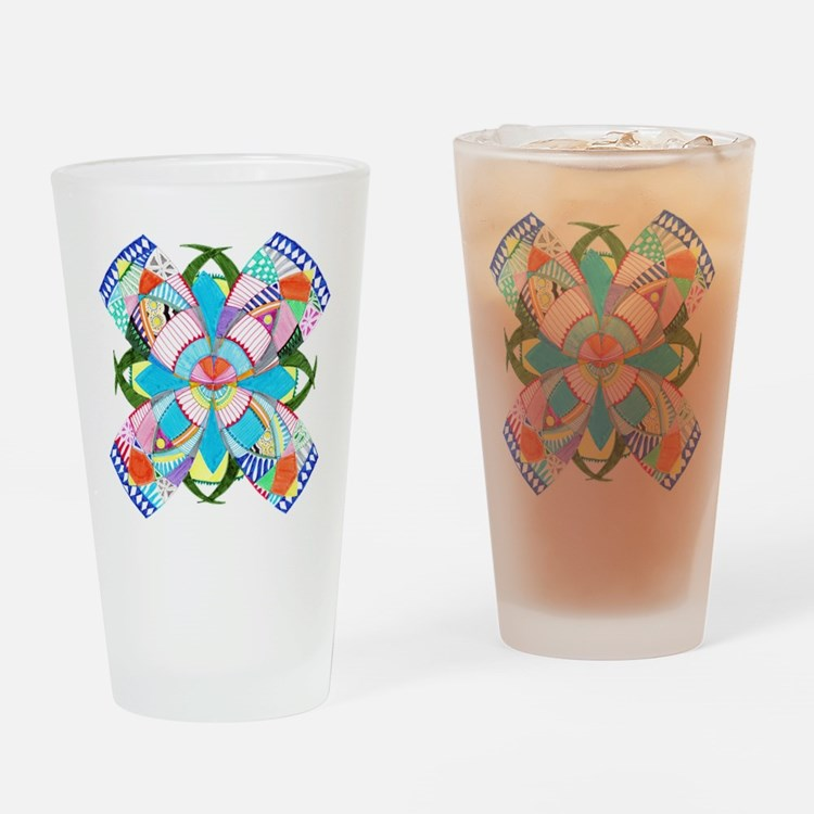 Cute Dibujo Drinking Glass