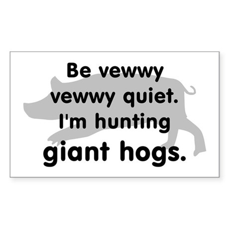 Hunting Giant Hogs Rectangle Sticker