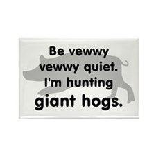Hunting Giant Hogs Rectangle Magnet