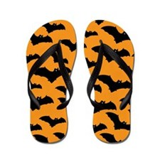 Halloween Bat Pattern Flip Flops