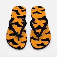 Halloween Bat Pattern Flip Flops
