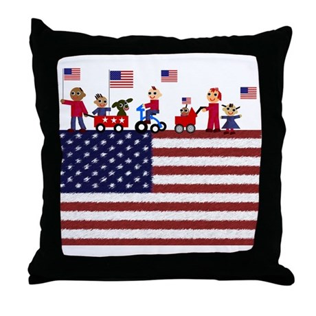 July 4th Throw Pillow