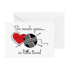 So Much Yarn Greeting Card