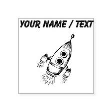 Custom Rocket Ship Sticker