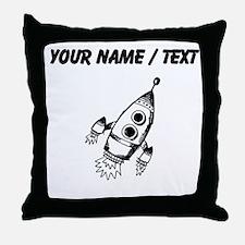 Custom Rocket Ship Throw Pillow