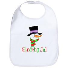 Glaedelig Jul Snowman Child Bib
