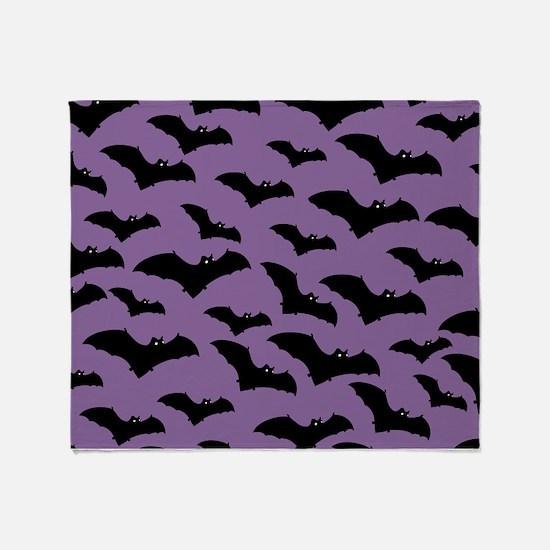 Spooky Halloween Bat Pattern Throw Blanket