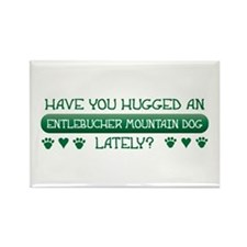 Hugged Entlebucher Rectangle Magnet